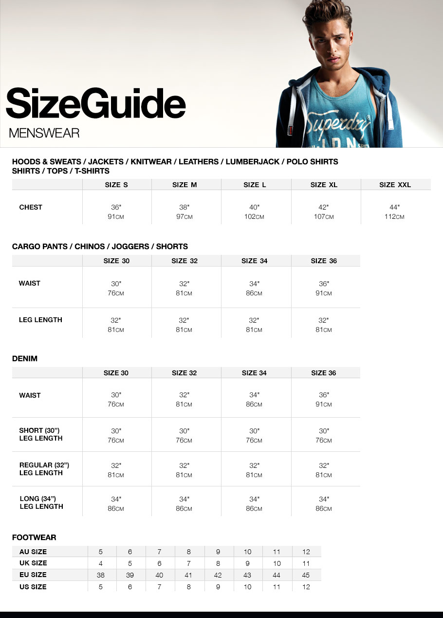 Faqs superdry men size guide nvjuhfo Choice Image