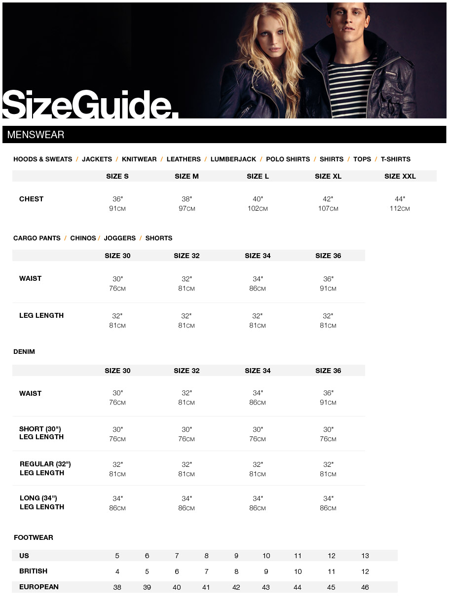 Superdry Jacket Size Guide Mens 70